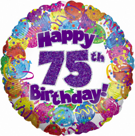 75th Helium Balloon Lily Alley Florist St Albans